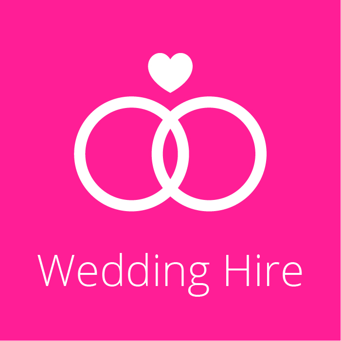 Wedding Hire Icon - Two rings intersecting each other
